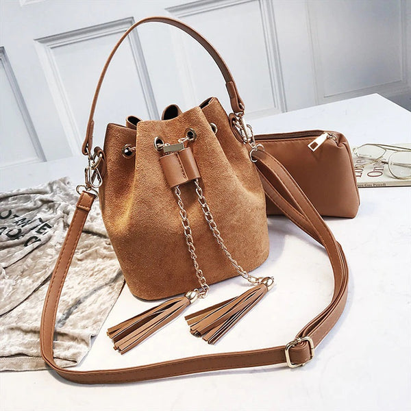 Layla Drawstring Bucket Bag
