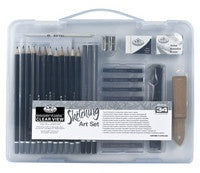 ROYAL SKETCHING ART SET SMALL CLEAR VIEW