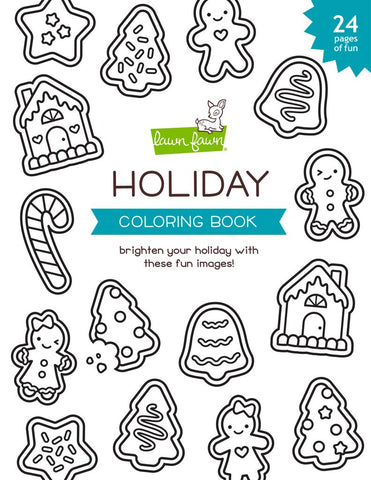 LAWN FAWN COLORING BOOK HOLIDAY
