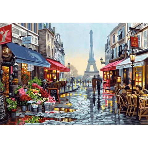 PAINTWORKS PARIS FLOWER SHOP 14X20