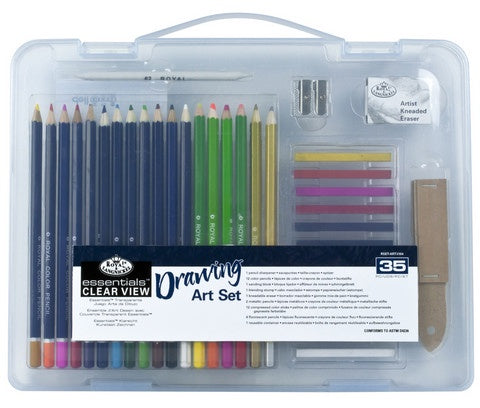 ROYAL DRAWING ART SET SMALL CLEAR VIEW