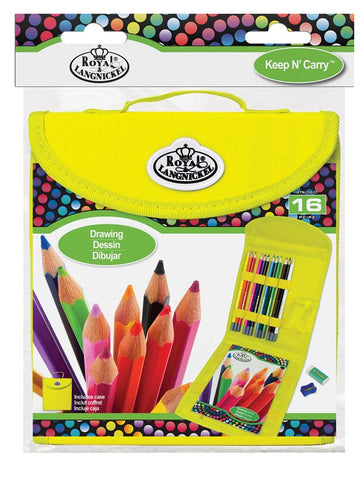 ROYAL DRAWING SET WITH CASE 16PC