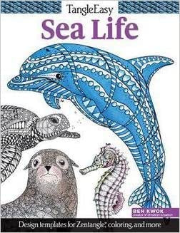 SEA LIFE ZENTANGLE COLORING BOOK