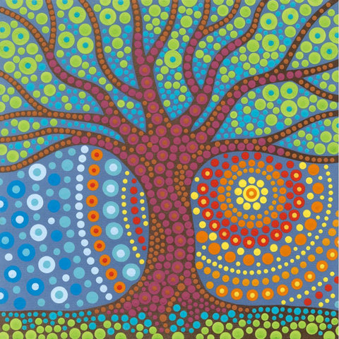 DIMENSIONS LOTS OF DOTS MYSTIC TREE DOT PAINTING KIT