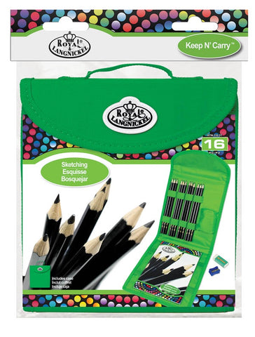 ROYAL SKETCHING SET WITH CASE 16PC