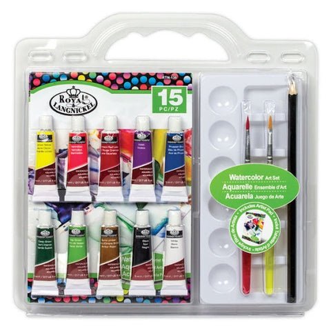 ROYAL WATERCOLOR ART SET 15PC