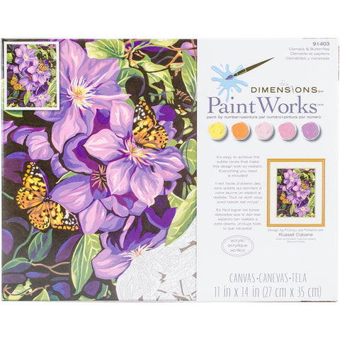 PAINTWORKS CLEMATIS AND BUTTERFLIES