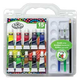 ROYAL ACRYLIC ART SET 15PC