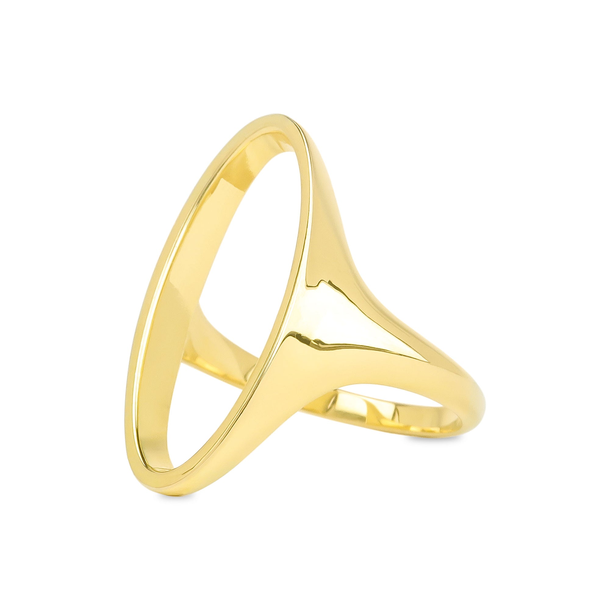 Tahoe Open Oval Signet Ring - Evertess Jewelry