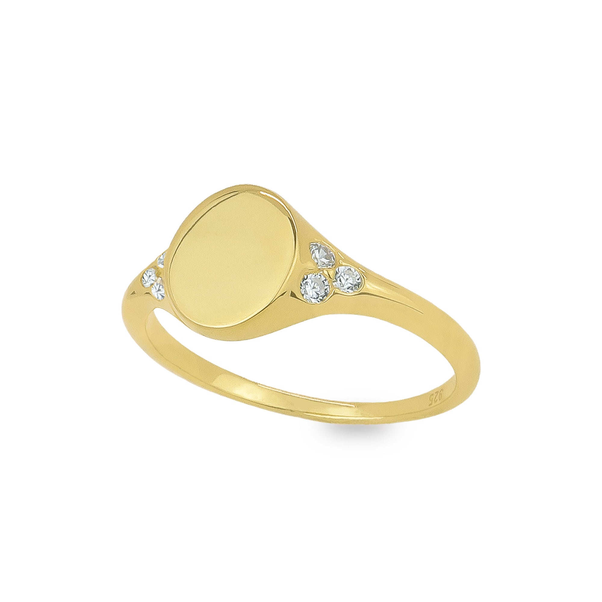 Hermosa Blank Signet Ring - Evertess Jewelry