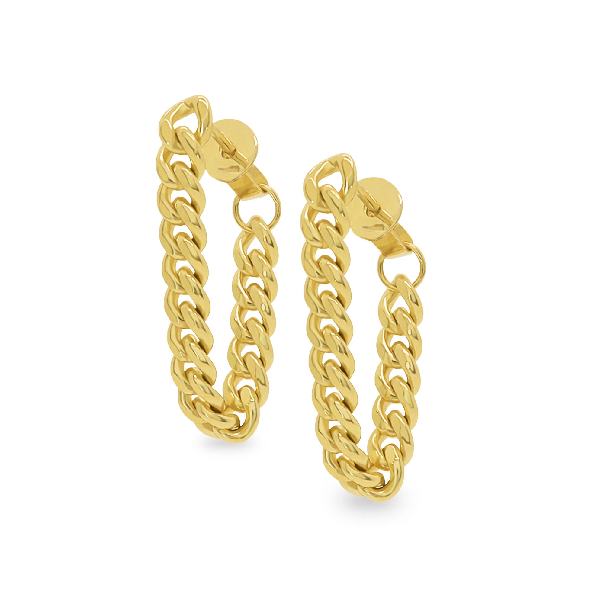 Big Sur Curb Chain Drop Earrings - Evertess Jewelry