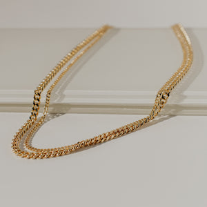 Big Sur Layered Curb Chain Necklace - Evertess Jewelry
