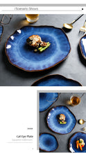 Load image into Gallery viewer, Blue Japanese Style Ceramic Dishes