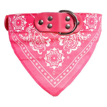 Load image into Gallery viewer, Dog Bandana Collar Adjustable PU leather