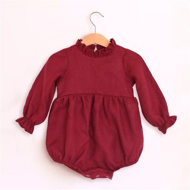 0-2T Long Sleeve Cotton Romper