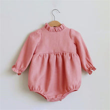 Load image into Gallery viewer, 0-2T Long Sleeve Cotton Romper