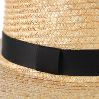 100% Straw  Boater Hat