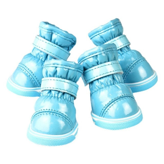 4 Pieces Winter  Waterproof Snow Boots for Dogs