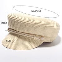 Summer Military Straw Cap