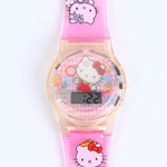 2D HELLO KITTY CARTOON WATCH C1028 FOR KIDS
