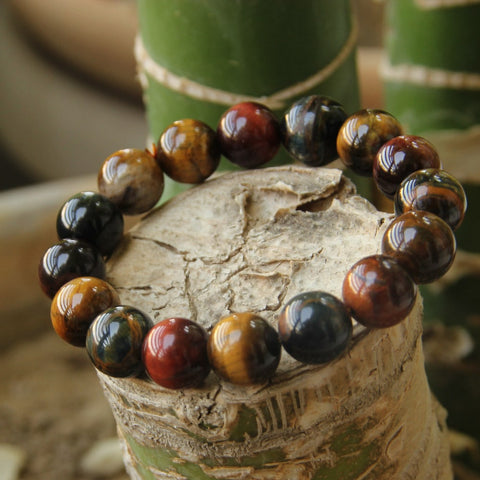 10mm Unique Tiger Eye Buddha Bracelet - Thebuyspot.com
