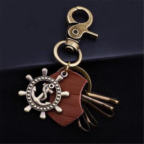 Anchor Leather Key Chains - Thebuyspot.com