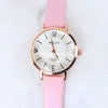 Baby Pink Strap Golden Dial 1334 Women's Wrist Watch