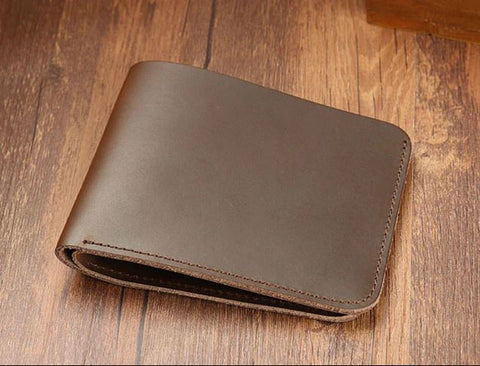 Bifold Men Short Slim Leather Purse - Thebuyspot.com
