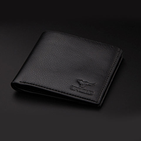 Black Casual Pu Leather Men Wallets - Thebuyspot.com