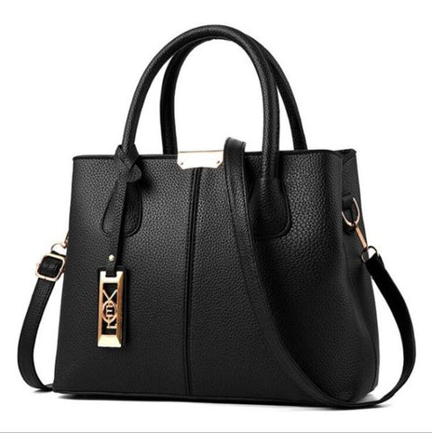 Black Classic Pu Shoulder Bag - Thebuyspot.com