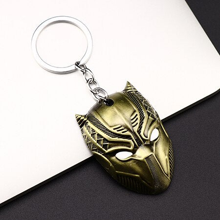 Black Panther Golden Mask KeyChain - Thebuyspot.com