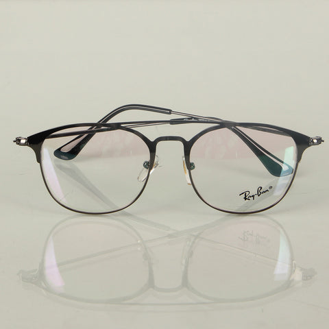 Black Round Thin Metal Eyeglasses - Thebuyspot.com