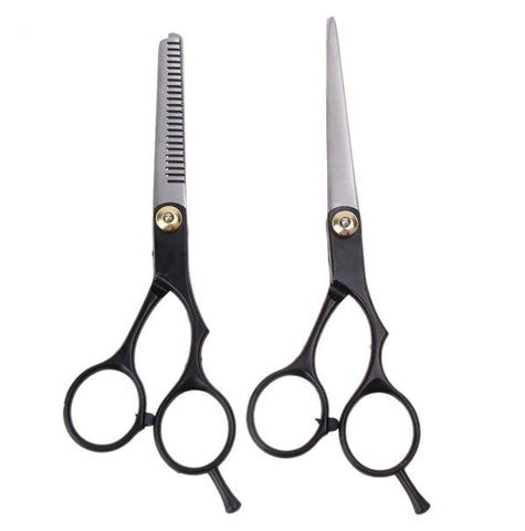 Black Thinning Scissors Set Stainless Steel - Thebuyspot.com