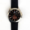 Black Leather Strap 1301 Men's Wrist Watch