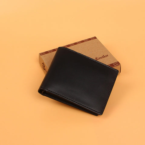 Black Luxury Leather Wallet Coin Pocket