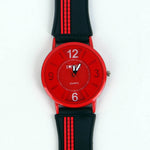 Black/Red Strap Red Dial C1097 Kids Watch
