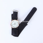 Black Strap Golden Dial 1323 Women's Wrist Watch