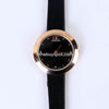 Black Strap Golden Dial 1324 Women's Wrist Watch