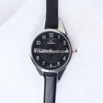 Black Strap Silver Dial 1325 Women's Wrist Watch