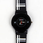 Black/White Strap Black Dial C1099 Kids Watch