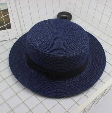 Blue Fashion Bow Casual Brim Cap - Thebuyspot.com