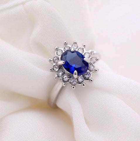 Blue Stone Charms Ring - Thebuyspot.com