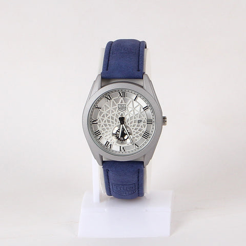 Blue Leather Strap 1113 Men's Wrist Watch - Thebuyspot.com
