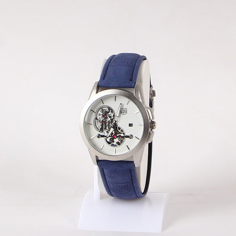 Blue Leather Strap 1114 Men's Wrist Watch