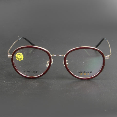 Brown And Silver L 5910 Eyeglasses - Thebuyspot.com