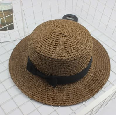 Brown Fashion Bow Casual Brim Cap - Thebuyspot.com