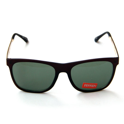 Brown Ferrari Green Lens Sunglasses - Thebuyspot.com