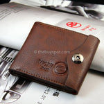 Brown Luxury Leather Wallet Coin Pocket