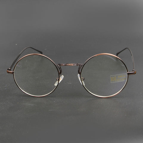 Brown Round Shape OF 9168 Eye Glasses - Thebuyspot.com