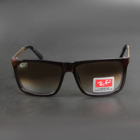 Brown Square R1080 Double Shade Sunglasses - Thebuyspot.com